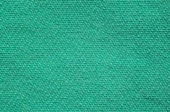 Textura verde de matéria têxtil da sarja de Nimes Fotografia de Stock