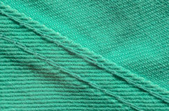 Textura verde de matéria têxtil da sarja de Nimes Imagens de Stock Royalty Free