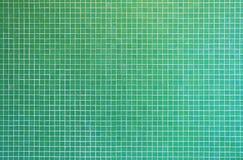 Textura verde del azulejo de mosaico Fotografía de archivo
