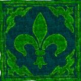 Textura verde del símbolo de la caja Fotografía de archivo