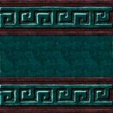 Textura verde del símbolo de la caja Imagenes de archivo