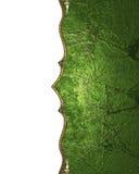 Textura verde do grunge com um teste padrão Elemento para o projeto Molde para o projeto copie o espaço para o folheto do anúncio Foto de Stock Royalty Free