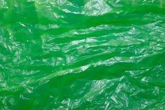 Textura verde do saco de plástico imagem de stock royalty free
