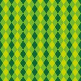 Textura verde e azul sem emenda do teste padrão do fundo do arlequim do diamante Fotografia de Stock Royalty Free