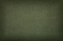 Textura verde-oliva do algodão com vinheta Fotografia de Stock