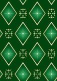 Textura verde oscuro inconsútil con los Rhombus Imagen de archivo libre de regalías