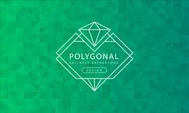 Textura verde poligonal del fondo del extracto, haber texturizado verde, fondos del polígono de la bandera, ejemplo del vector libre illustration