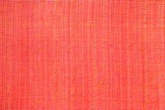 Textura vermelha da tela para o fundo Foto de Stock Royalty Free