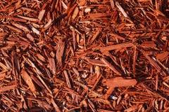 Textura vermelha das microplaquetas de madeira Imagem de Stock Royalty Free
