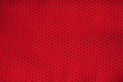 Textura vermelha de Jersey Imagem de Stock