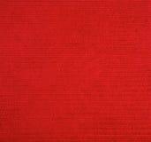 Textura vermelha de pano Fotografia de Stock