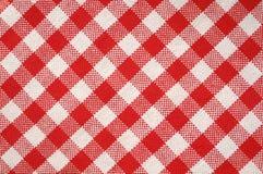 Textura vermelha de toalha Fotografia de Stock Royalty Free