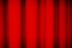 Textura vermelha do fundo da cortina Foto de Stock Royalty Free