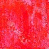 Textura vermelha do fundo do grunge da aquarela do vetor Imagem de Stock Royalty Free