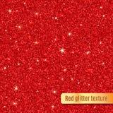 Textura vermelha do Glitter Ilustração do vetor ilustração stock