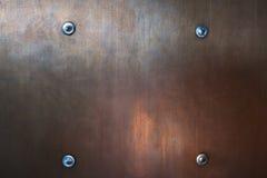 Textura vermelha do metal Imagens de Stock