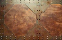 Textura vermelha do metal Foto de Stock Royalty Free