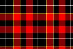Textura vermelha do tartan ilustração royalty free
