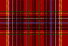 Textura vermelha do Tartan Fotos de Stock