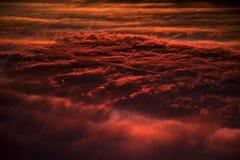 Textura vermelha dramática da nuvem Imagens de Stock Royalty Free