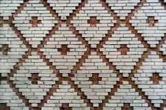 Textura vermelha e branca da parede de tijolo do teste padrão da telha do teste padrão Imagens de Stock