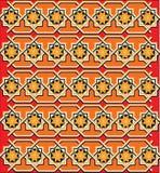 Textura vermelha ou ornamento Fotografia de Stock