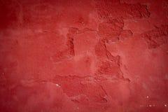 Textura vermelha pálida do muro de cimento Imagens de Stock
