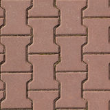 Textura vermelha sem emenda do pavimento da pedra Foto de Stock Royalty Free