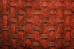 textura vermelha trançada velha da parede Imagens de Stock Royalty Free