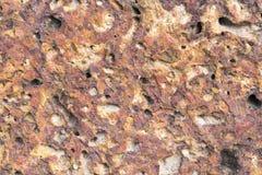 A textura vermelha velha da rocha Foto de Stock