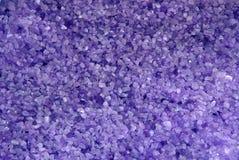 Textura violeta de la sal del mar foto de archivo