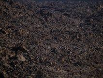 Textura volcánica del suelo Imagen de archivo libre de regalías