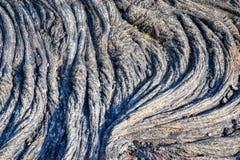 Textura vulcânica da superfície da rocha do magma em vulcões de Havaí do campo de lava fotografia de stock