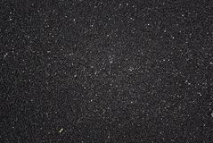 Textura vulcânica preta da areia Foto de Stock Royalty Free