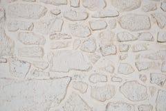 Textura Whitewashed do fundo da parede de pedra foto de stock royalty free
