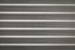 Textura y backgroud de las aletas de aluminio Imagenes de archivo
