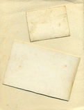 Textura y bordes del fondo de la tarjeta de la vendimia Foto de archivo libre de regalías