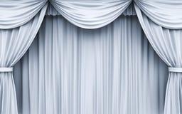 Textura y fondo blancos de la cortina de la etapa Foto de archivo libre de regalías