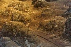 Textura y fondo de piedra de la superficie del botón Imagen de archivo libre de regalías