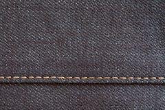 Textura y fondo negros de la mezclilla del dril de algodón Imagen de archivo libre de regalías