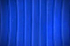 Textura y fondo plateados de metal azules de la pared Fotos de archivo libres de regalías