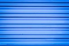 Textura y fondo plateados de metal azules de la pared Imagen de archivo
