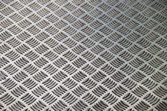 Textura y fondo plateados de metal del modelo del diamante Fotografía de archivo libre de regalías