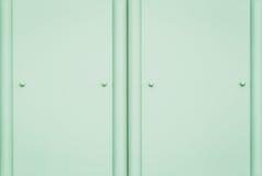 Textura y fondo plateados de metal verdes de la pared Foto de archivo libre de regalías