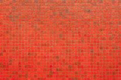 Textura y fondo rojos de la pared del mosaico Imagen de archivo libre de regalías