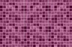 Textura y fondo rojos de la pared del mosaico Foto de archivo