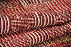 Textura y modelo de mantas tejidas coloridas Imagen de archivo libre de regalías