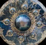 Textura y modelo del gongo grande foto de archivo libre de regalías