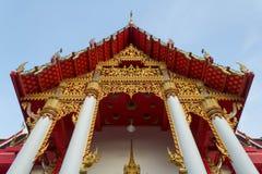 Textura y modelo del templo de Tailandia fotografía de archivo
