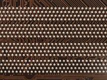 Textura y pernos de la placa de circuito Fotografía de archivo